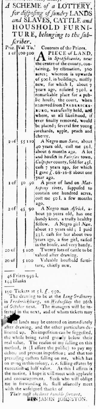 Mar 31 - Virginia Gazette Rind Slavery 3