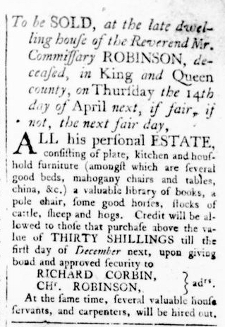 Mar 31 - Virginia Gazette Rind Slavery 4