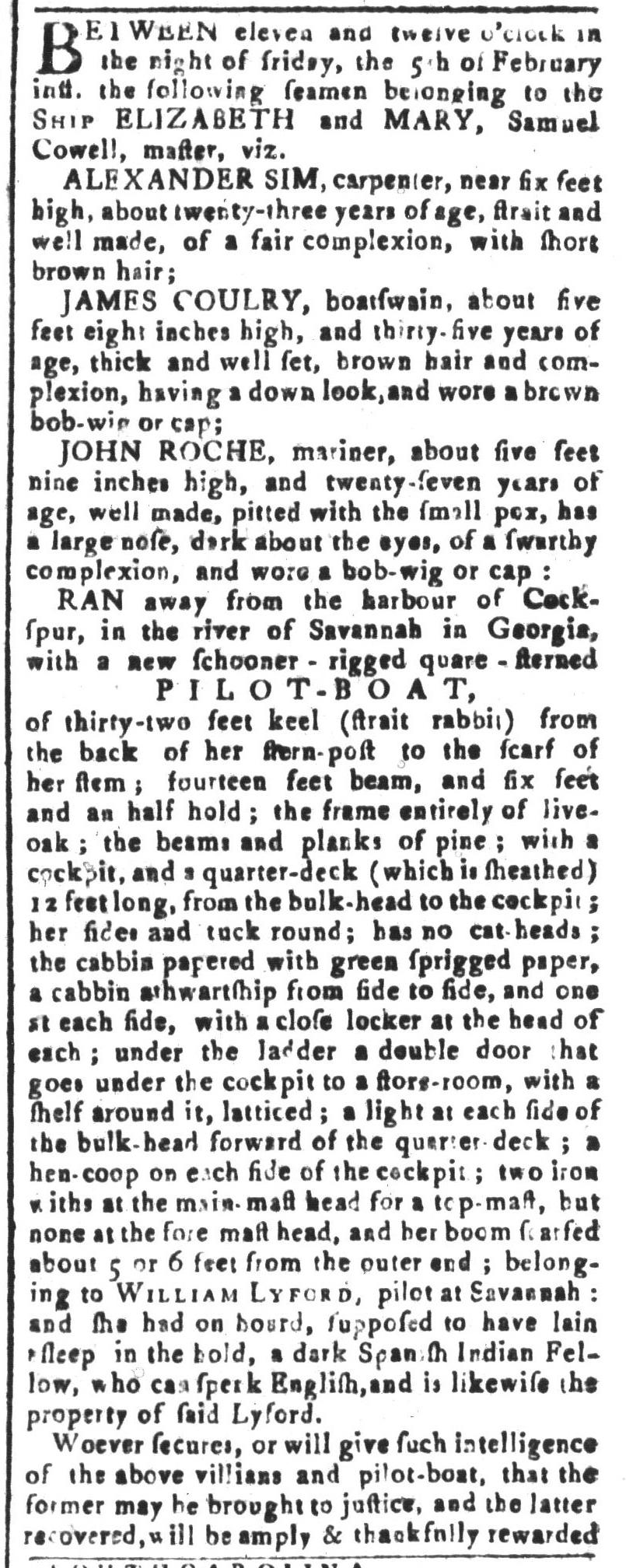 Mar 4 - South-Carolina and American General Gazette Slavery 10