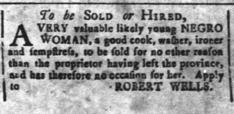 Mar 4 - South-Carolina and American General Gazette Slavery 11