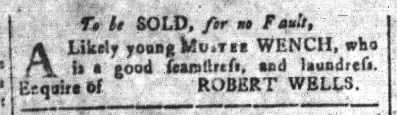 Mar 4 - South-Carolina and American General Gazette Slavery 12