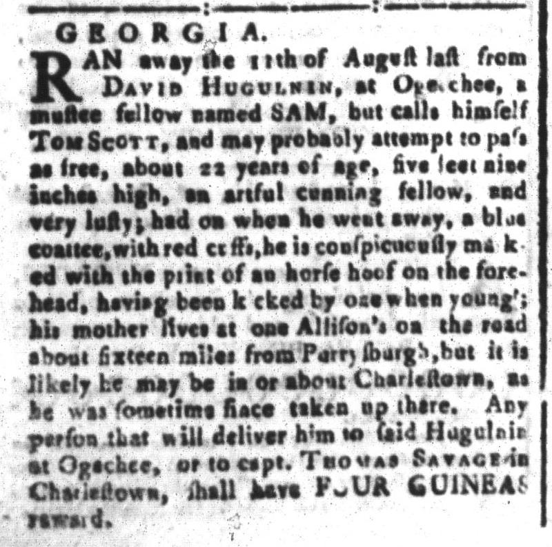 Mar 4 - South-Carolina and American General Gazette Slavery 6