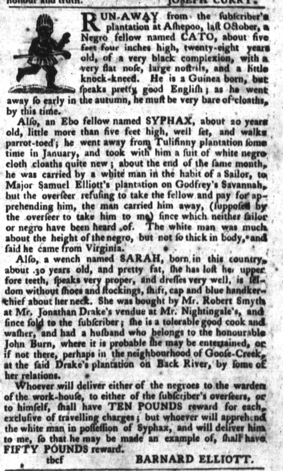 Mar 8 - South-Carolina Gazette and Country Journal Slavery 5