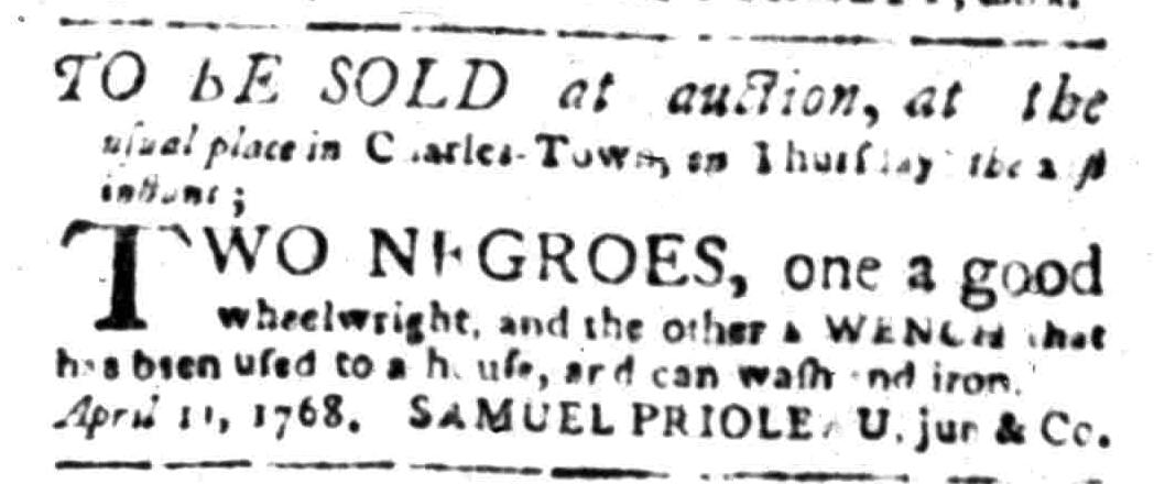 Apr 11 - South Carolina Gazette Slavery 3