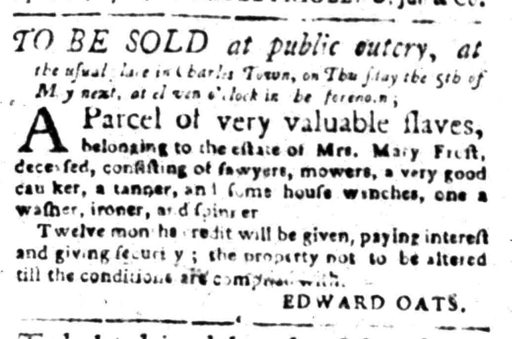 Apr 11 - South Carolina Gazette Slavery 4