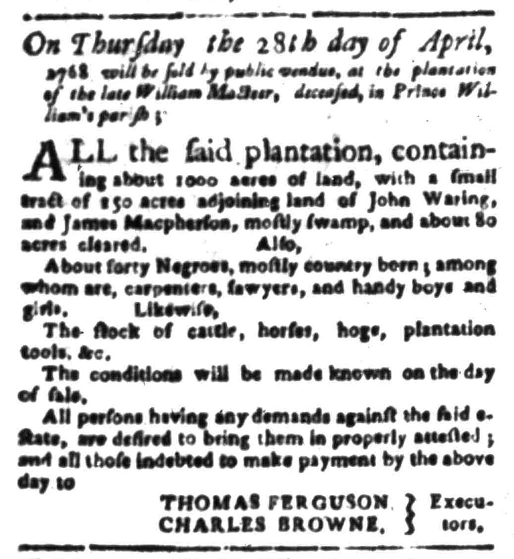 Apr 11 - South Carolina Gazette Slavery 6