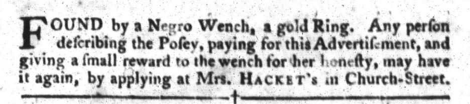 Apr 12 - South-Carolina Gazette and Country Journal Slavery 2