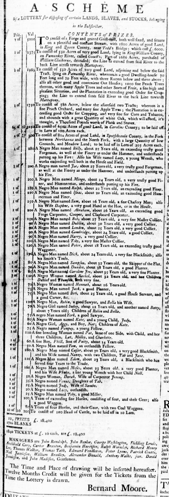 Apr 14 - Virginia Gazette Rind Slavery 1