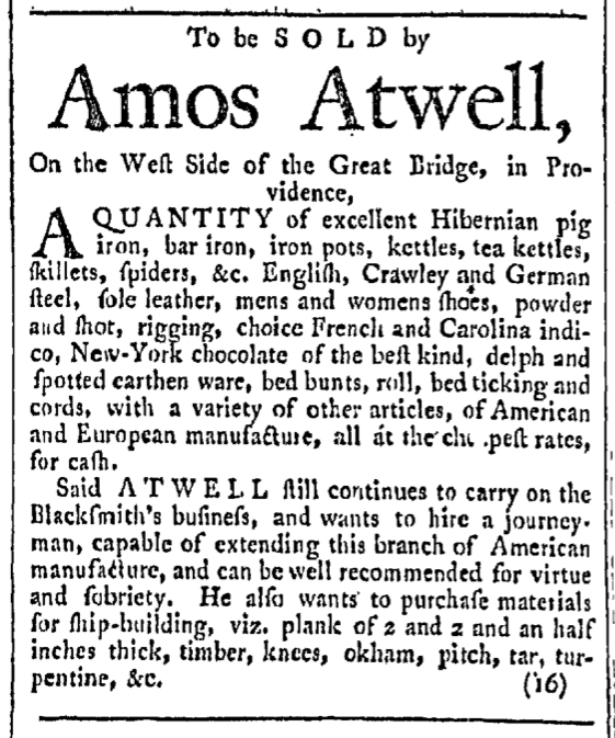 Apr 16 - 4:16:1768 Providence Gazette