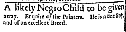 Apr 18 - Boston Evening-Post Slavery 1
