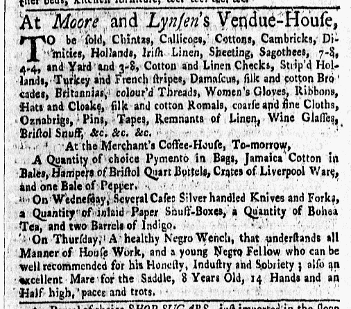 Apr 18 - New-York Gazette Weekly Mercury Slavery 1