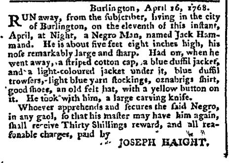 Apr 18 - Pennsylvania Chronicle Slavery 1