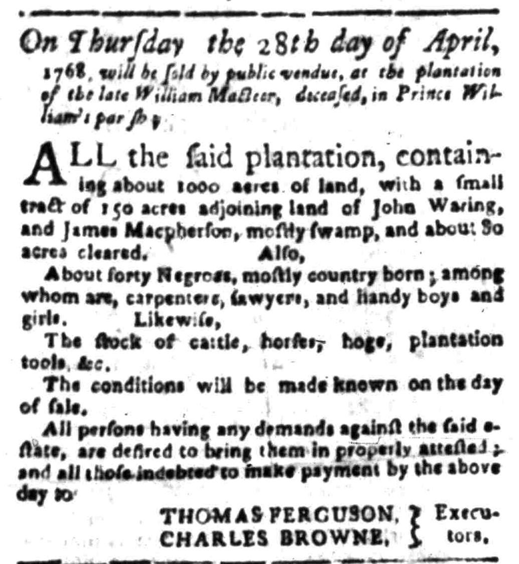 Apr 18 - South Carolina Gazette Slavery 7