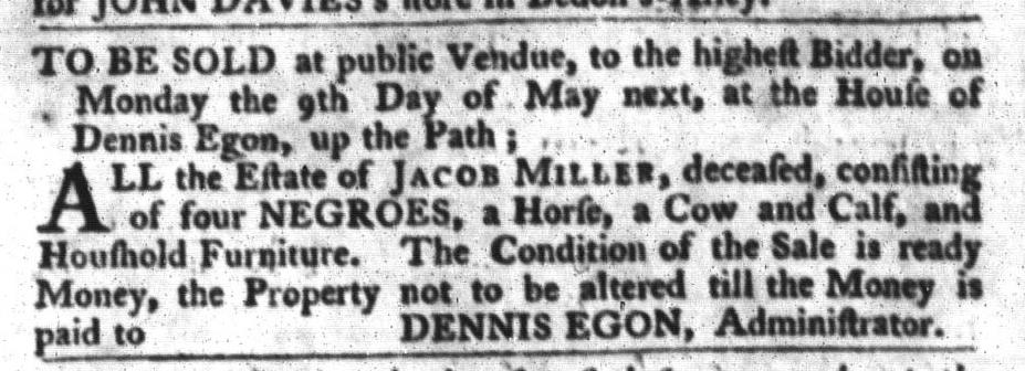 Apr 19 - South-Carolina Gazette and Country Journal Slavery 3