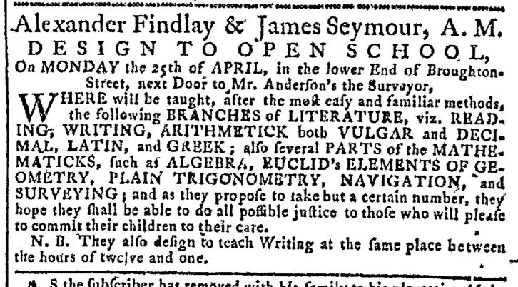 Apr 20 - 4:20:1768 Georgia Gazette