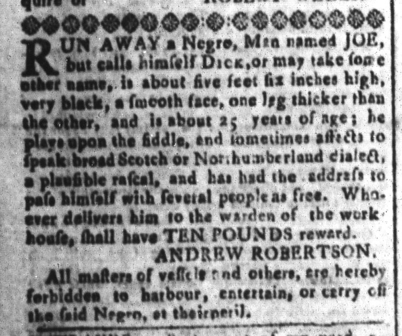 Apr 22 - South-Carolina and American General Gazette Slavery 6