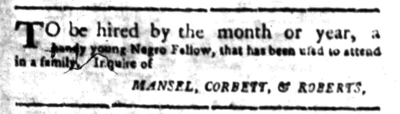 Apr 25 - South Carolina Gazette Slavery 3