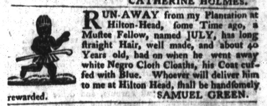 Apr 26 - South-Carolina Gazette and Country Journal Slavery 5