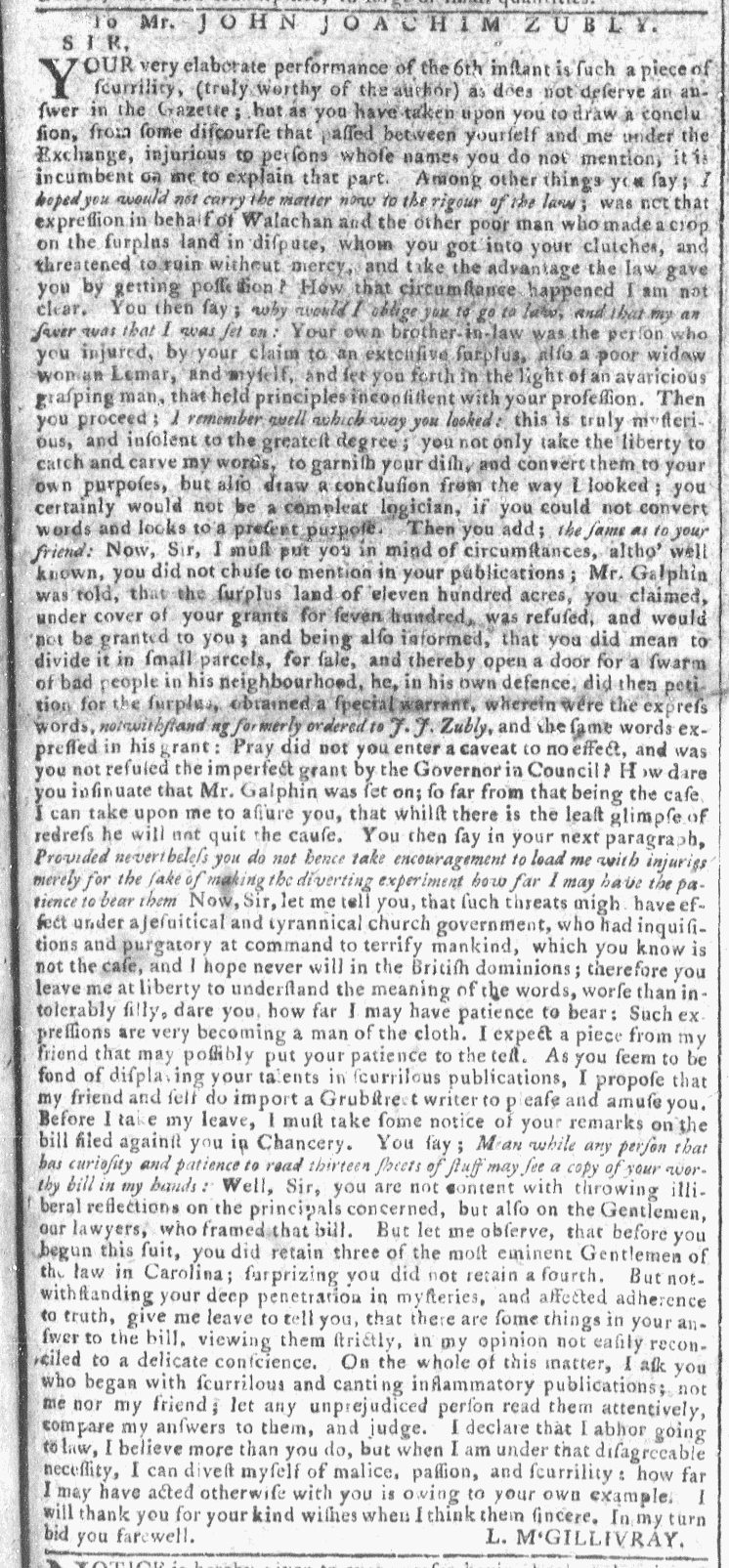 Apr 27 - 4:20:1768 Georgia Gazette