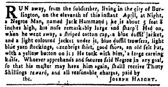 Apr 28 - Pennsylvania Gazette Slavery 1