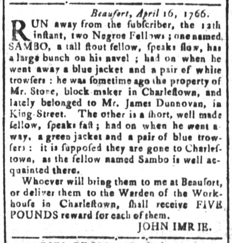 Apr 29 - South-Carolina and American General Gazette Slavery 5