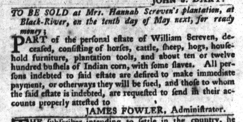 Apr 5 - South-Carolina Gazette and Country Journal Slavery 12.jpg