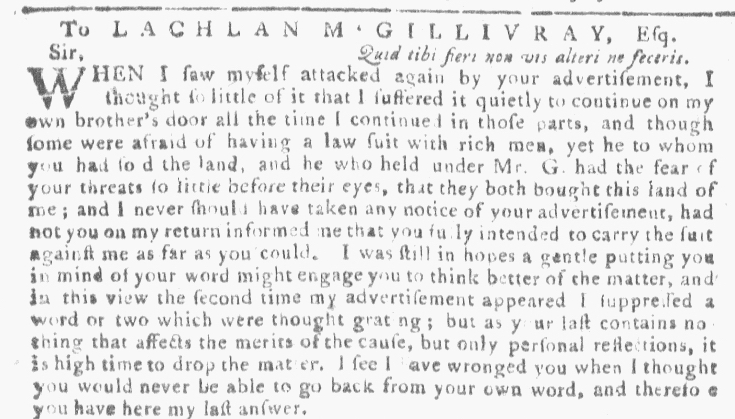 Apr 6 - 4:6:1768 Georgia Gazette Supplement