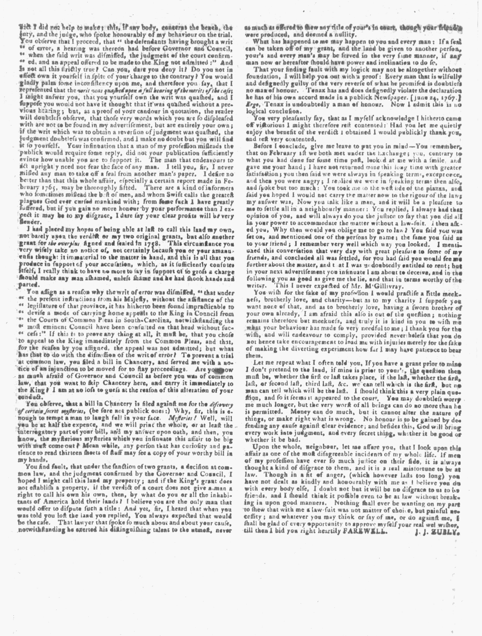 Apr 6 - 4:6:1768 Page 2 Georgia Gazette Supplement