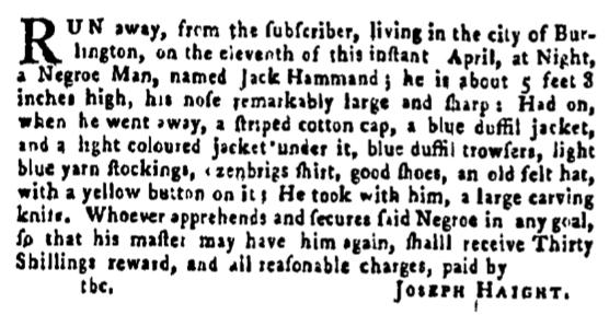 May 5 - Pennsylvania Gazette Supplement Slavery 3