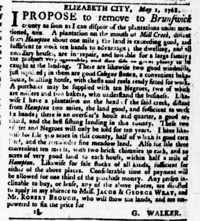 May 5 - Virginia Gazette Puride and Dixon Slavery 1