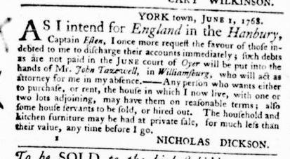 Jun 2 - Virginia Gazette Purdie and Dixon Slavery 2