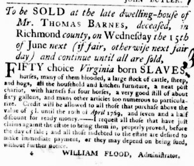 Jun 2 - Virginia Gazette Purdie and Dixon Slavery 5