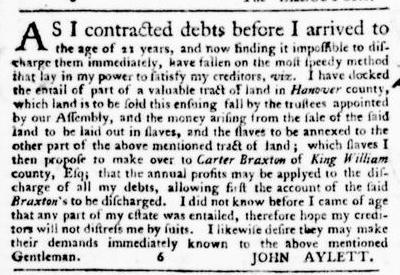 Jun 2 - Virginia Gazette Purdie and Dixon Slavery 7