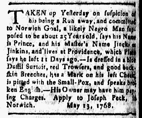Jun 3 - New-London Gazette Slavery 2