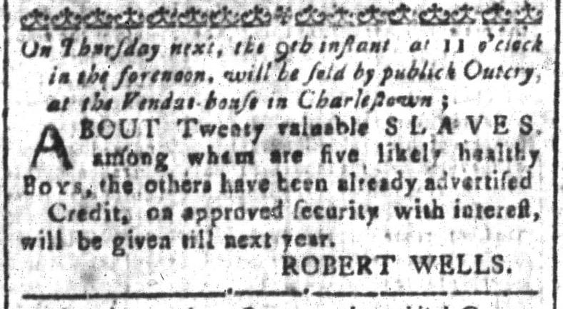 Jun 3 - South-Carolina and American General Gazette Slavery 1