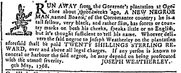 May 11 - Georgia Gazette Slavery 2