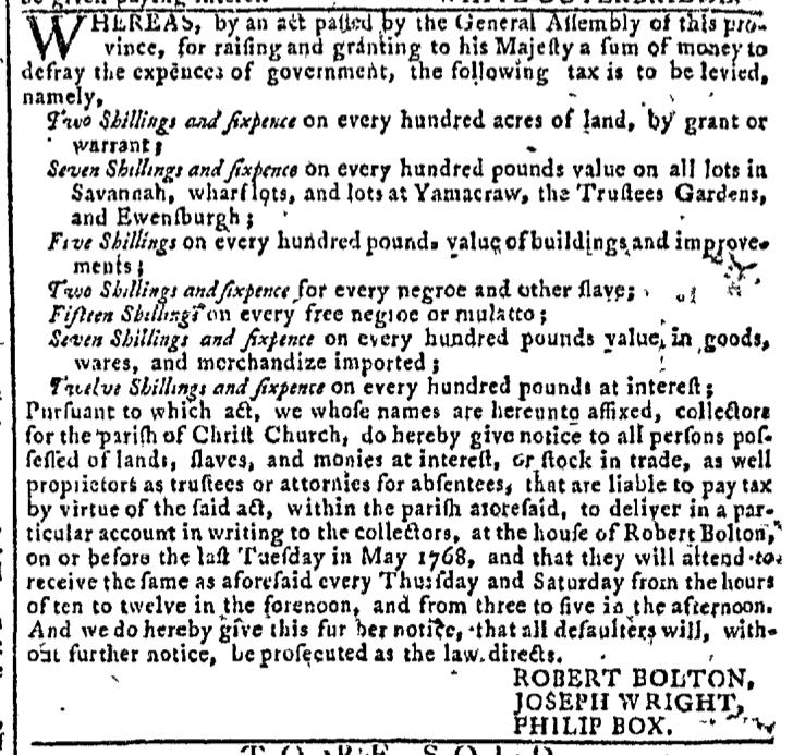 May 11 - Georgia Gazette Slavery 4