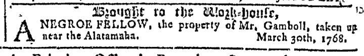 May 11 - Georgia Gazette Slavery 5