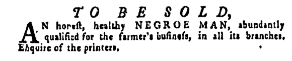 May 12 - Pennsylvania Gazette Supplement Slavery 1