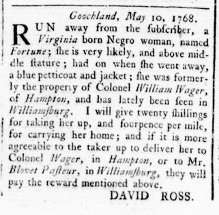 May 12 - Virginia Gazette Rind Slavery 2