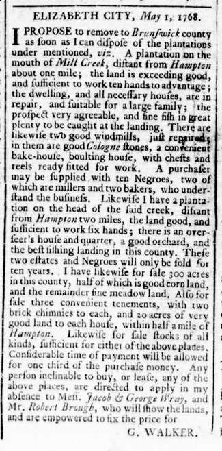 May 12 - Virginia Gazette Rind Slavery 3