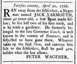 May 12 - Virginia Gazette Rind Slavery 6