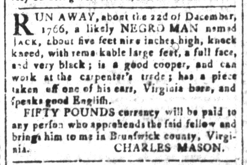 May 13 - South-Carolina and American General Gazette Slavery 1