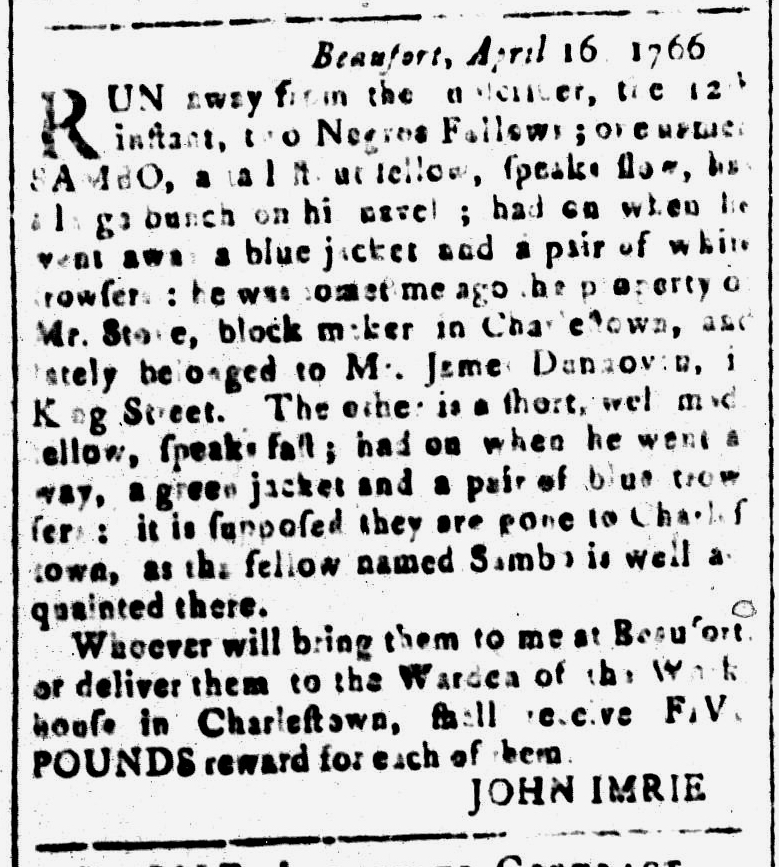 May 13 - South-Carolina and American General Gazette Slavery 9