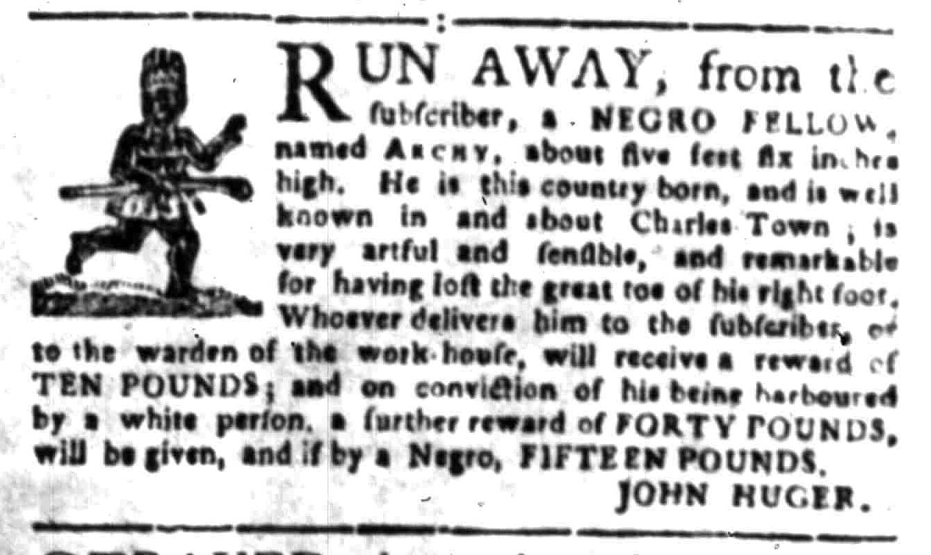 May 16 - South Carolina Gazette Slavery 1