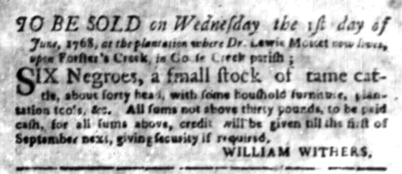 May 16 - South Carolina Gazette Supplement Slavery 2