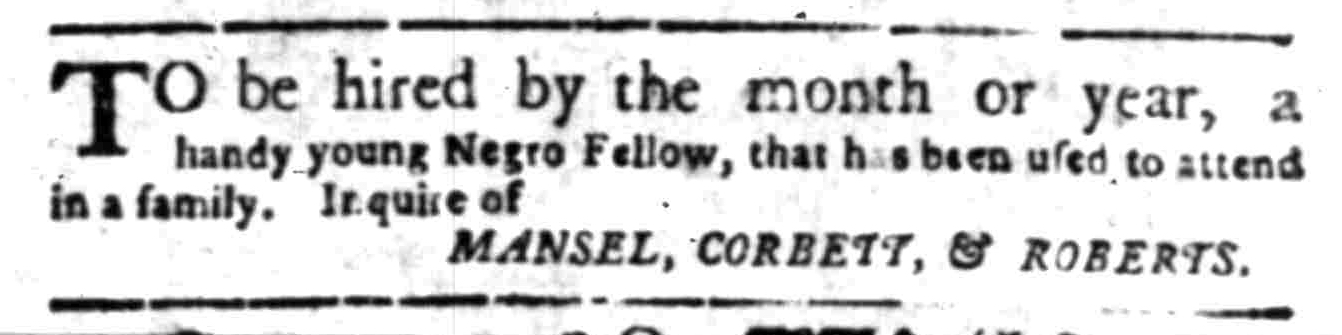 May 16 - South Carolina Gazette Supplement Slavery 4