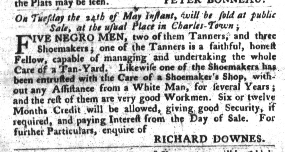 May 17 - South-Carolina Gazette and Country Journal Supplement Slavery 3