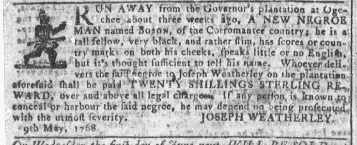 May 18 - Georgia Gazette Slavery 3