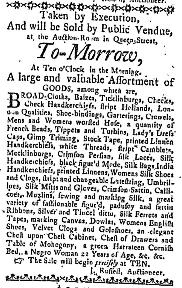 May 19 - Massachusetts Gazette Slavery 1